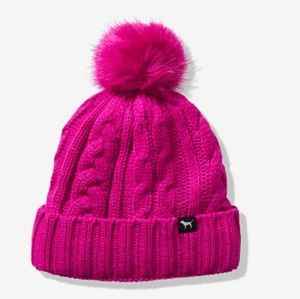 NEW! VS PINK SHERPA LINED BEANIE